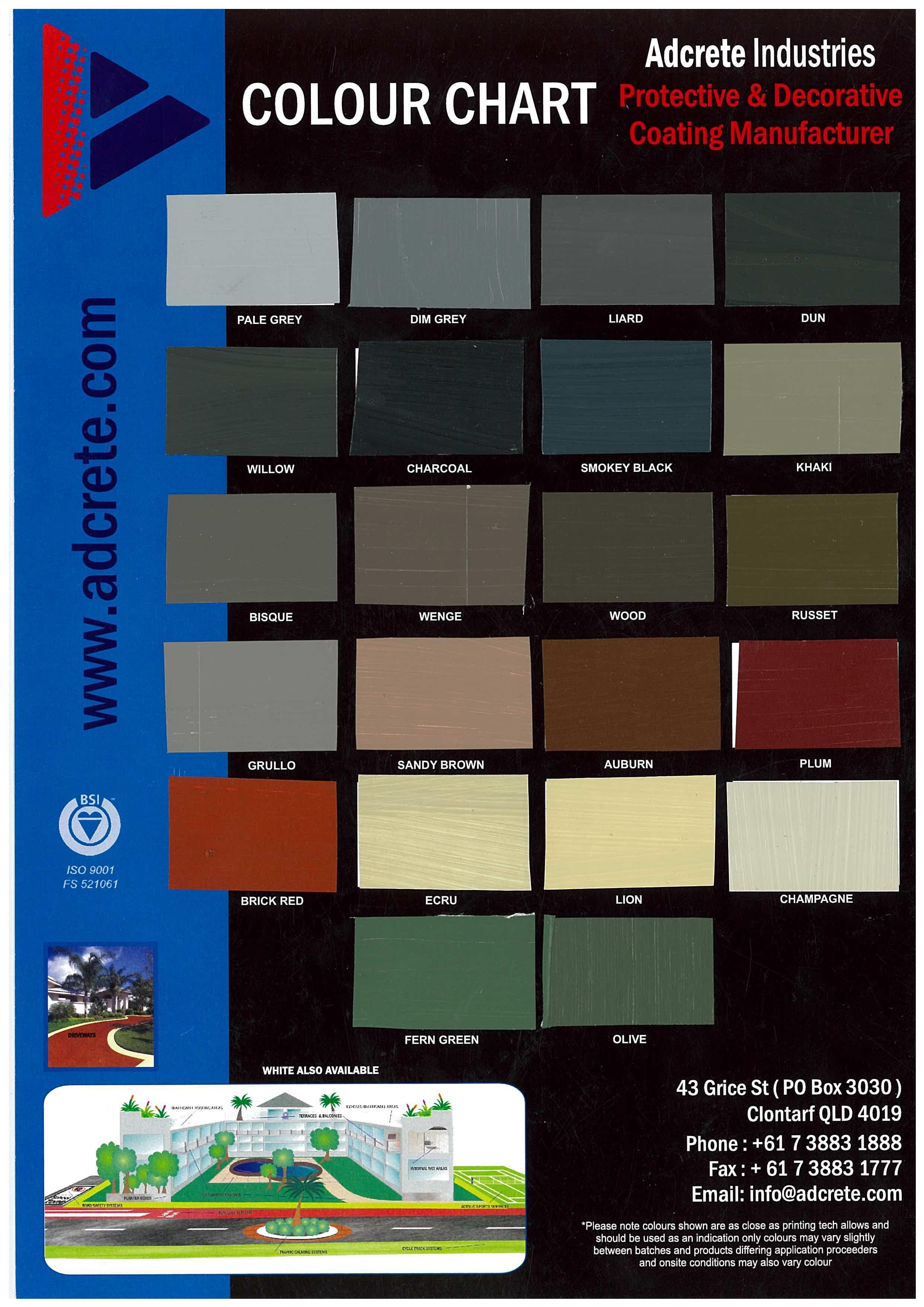 Adcrete Colour Card